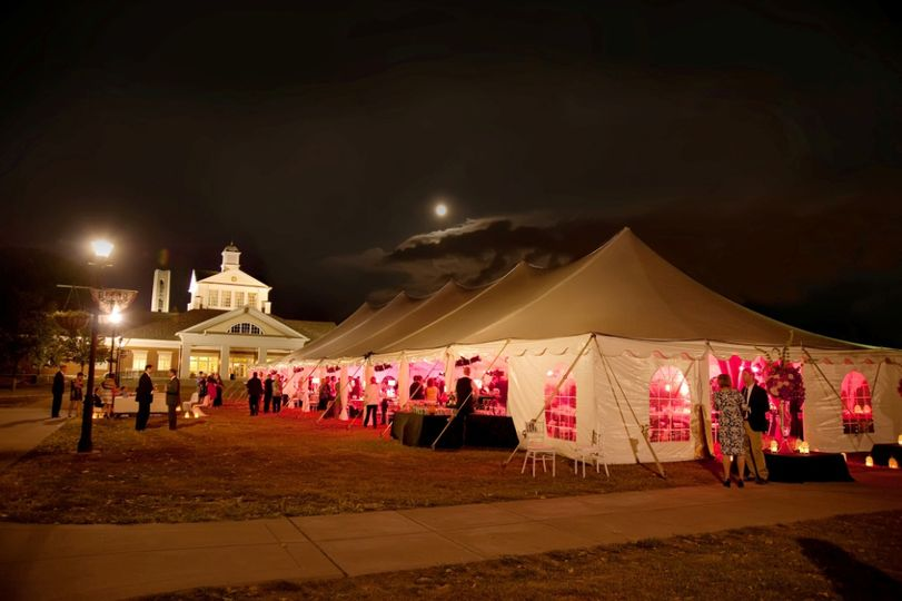 Pole Tent Wedding Reception