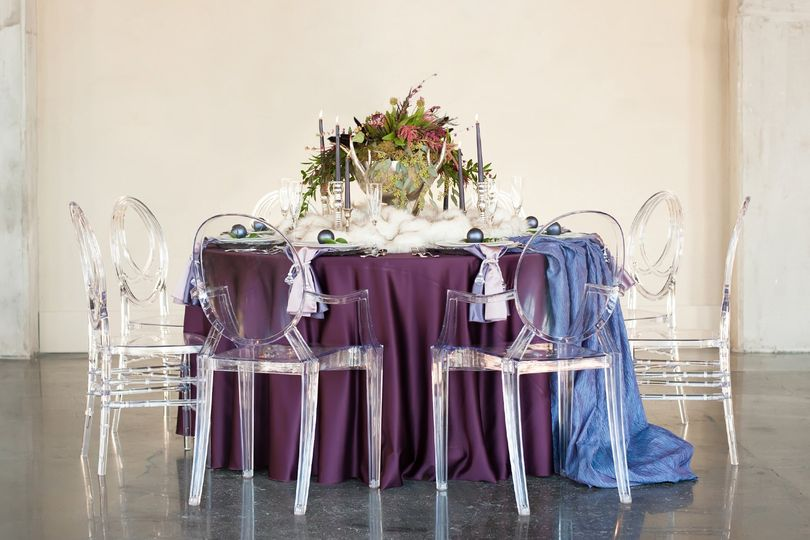 Purple Holiday Tablescape