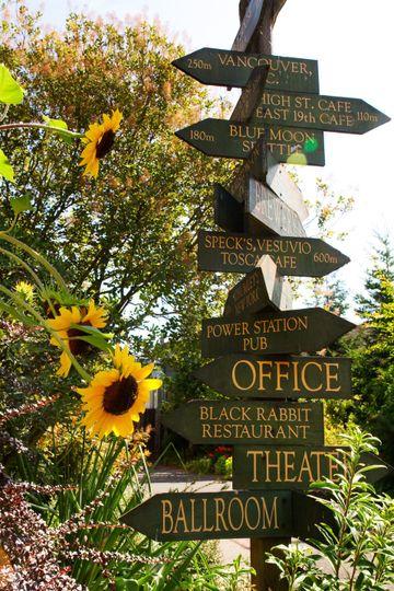 Sign & Sunflowers, McMenamins Edgefield