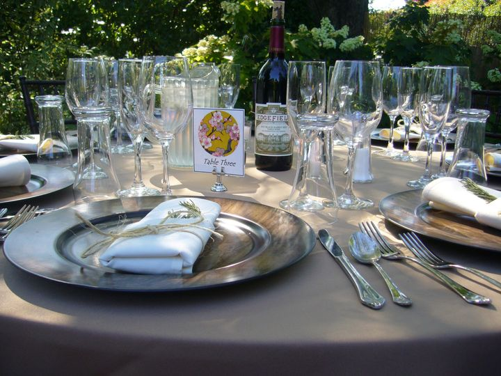 Tmx 1383863805390 Ad Hse Yard Tablescap Troutdale wedding venue