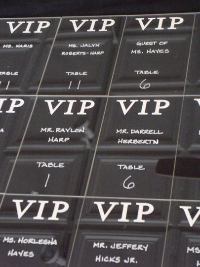 Clear Lucite Escort Cards