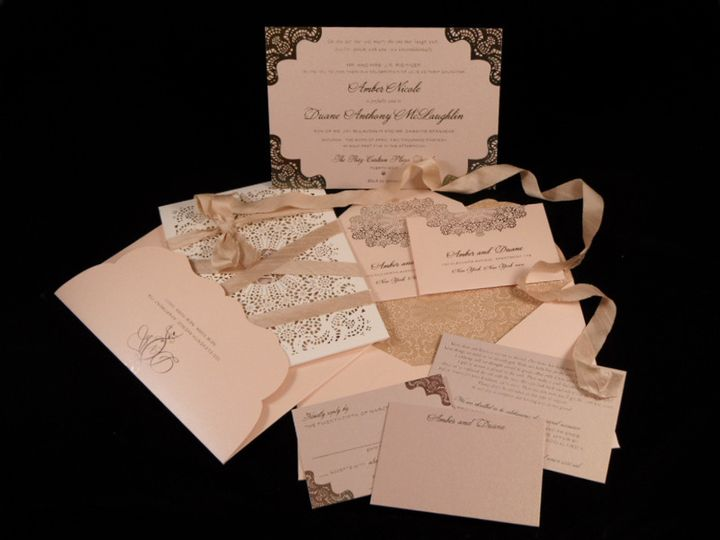 Blush pink invitations