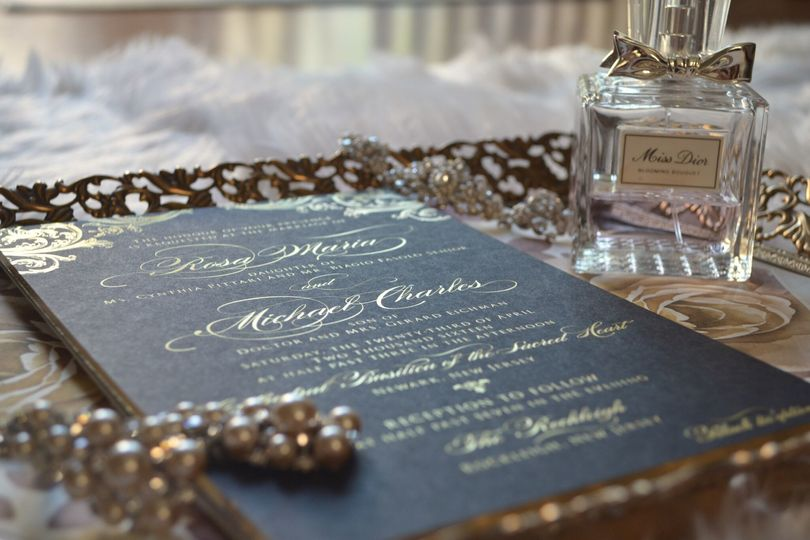 Invitation on tray