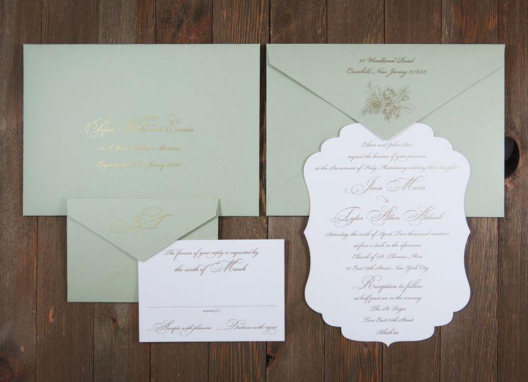 Die Cut with Sage Envelopes