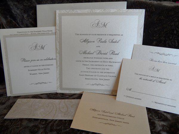 Tmx 1296244355338 SAM0307 Englewood, New Jersey wedding invitation