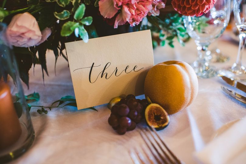 Table Setting Fall Wedding