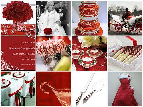 xmas wedding theme inspiration board
