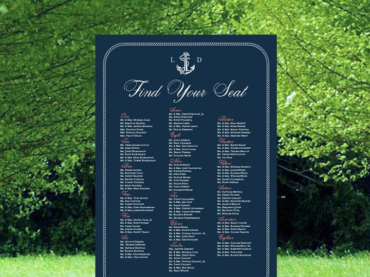 Tmx 1485274867448 Navy Nautical Anchor  Grass Seating Chart Mock Up  East Bridgewater wedding invitation