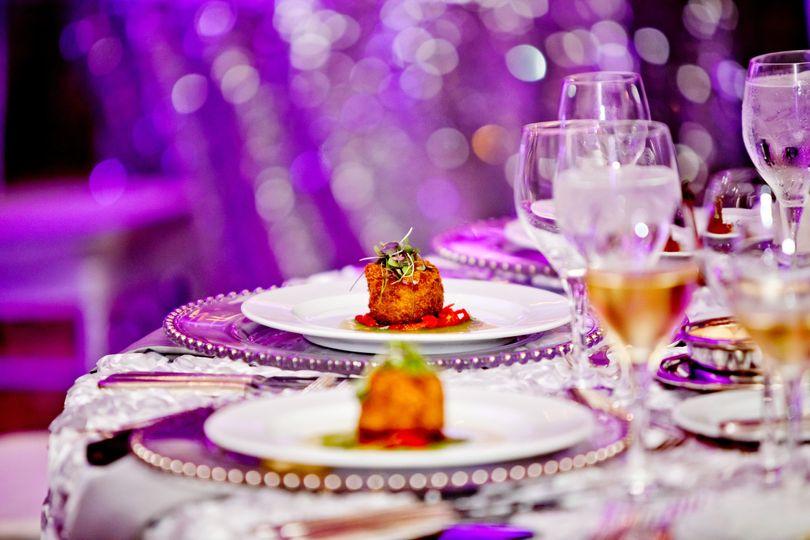 wedding food detail