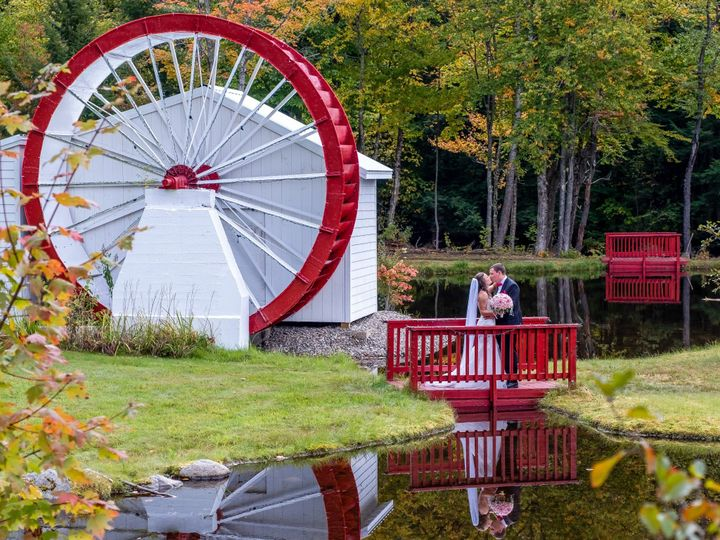 Tmx Edited Waterwheel Reflection Horizontal W Credit 51 106627 158093741412467 Lincoln, NH wedding venue
