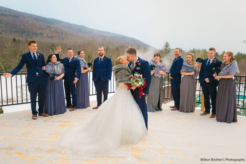 Wedding Party on New Deck