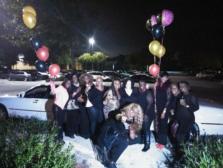 Ladies by the limo