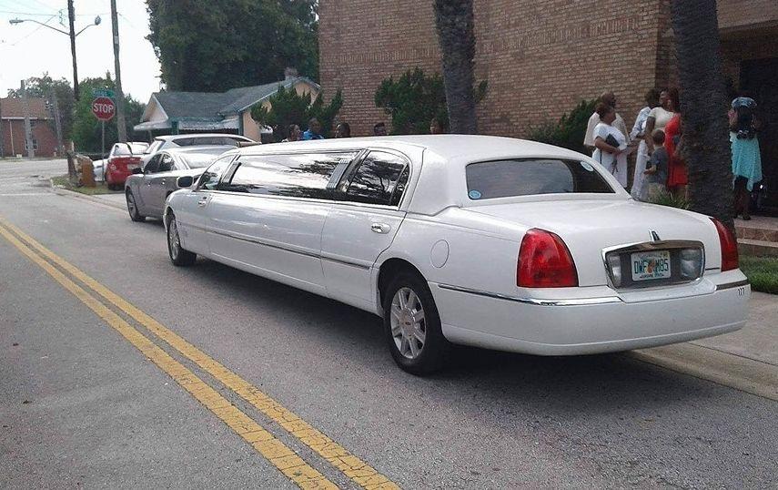 Classic white limo