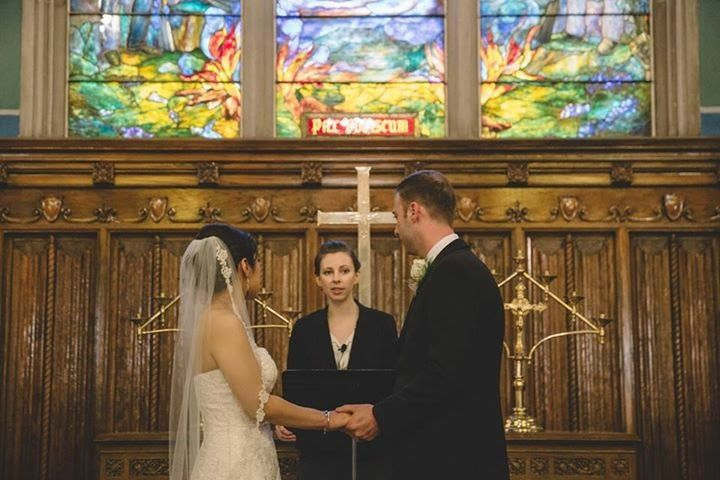 Hand in hand at the altar