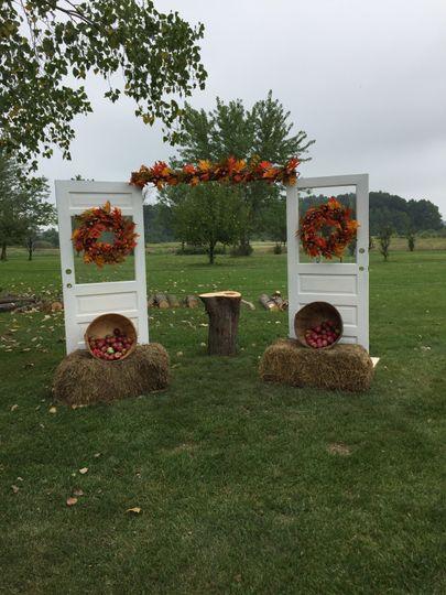Wedding door arch