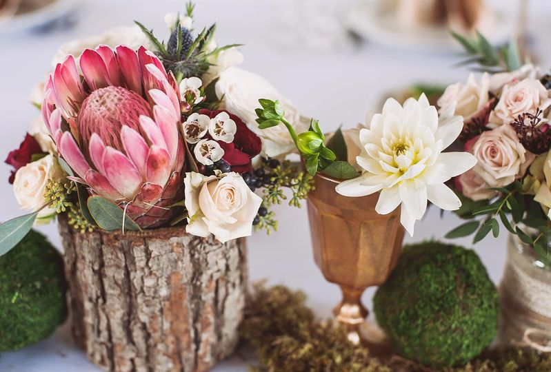 Chicly rustic decorations