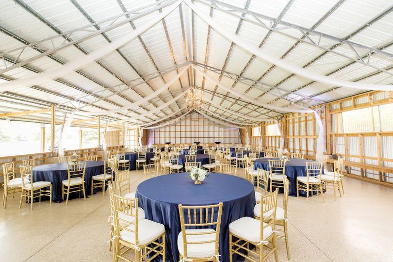 Big barn reception space