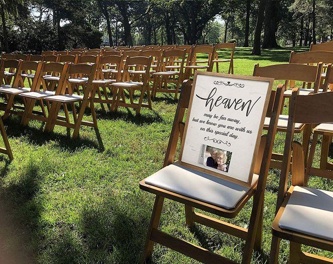 Heaven Wedding Sign on Amazon