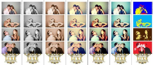 Some of the different Photo Looks that your guests can choose from for their photobooth pictures....