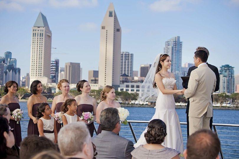 Overlooking the city wedding