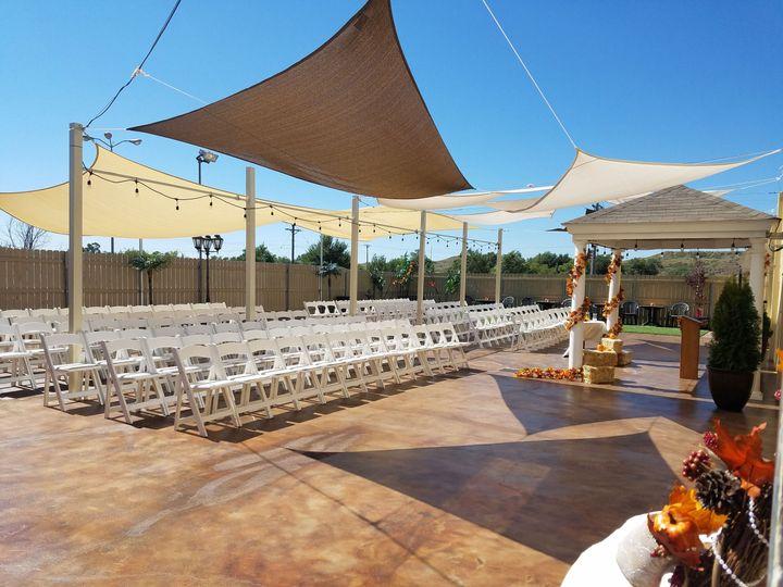 Wedding patio setup