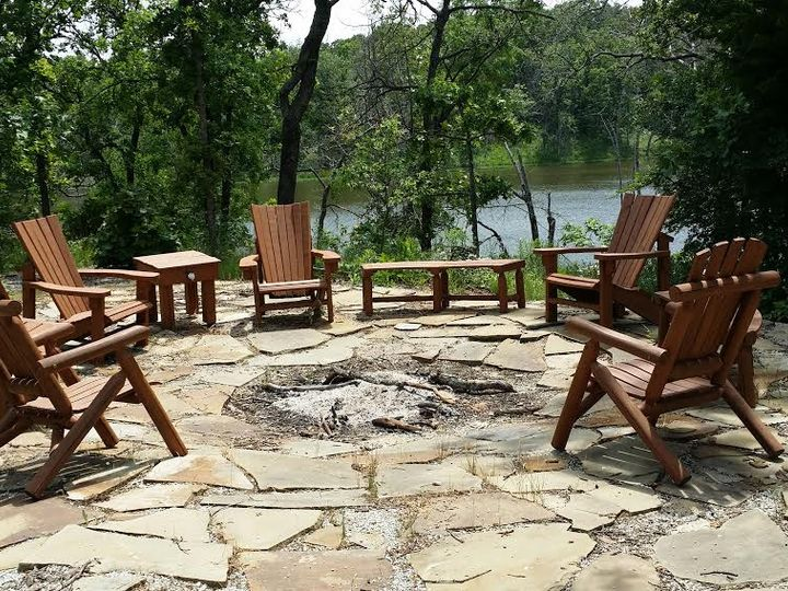 Tmx Fire Pit Stained Furniture With Lake 51 1750727 159562297797912 Ada, OK wedding venue