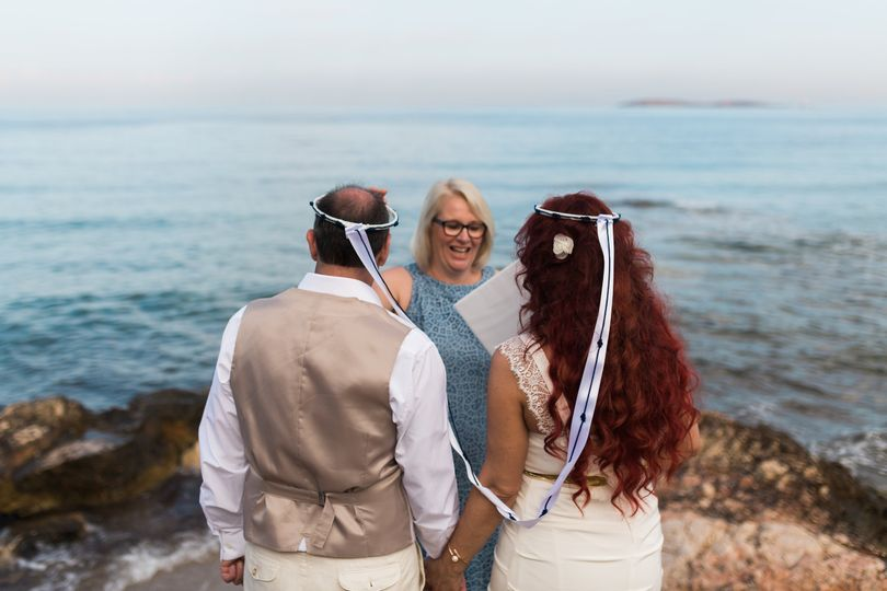 Vow renewal by the sea