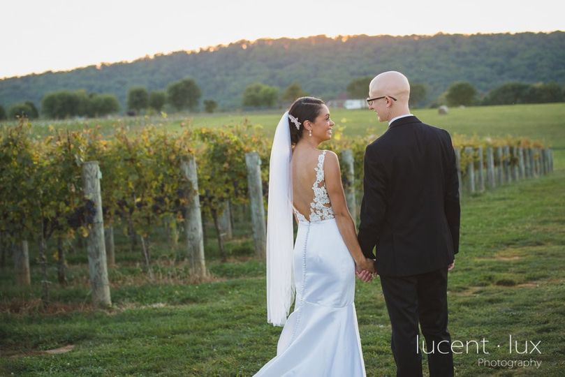 Couple in vines