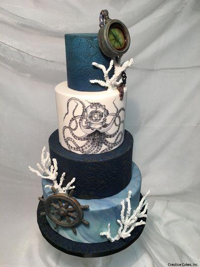 Nautical theme cake
