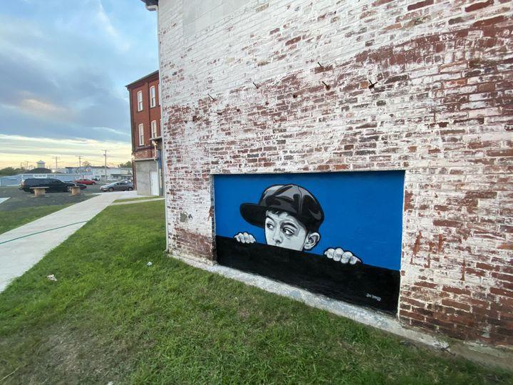 Peeking Mural