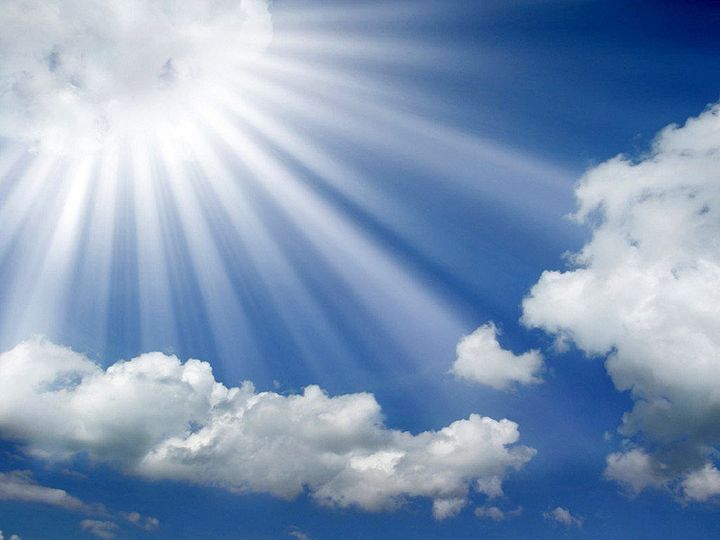 sun rays coming out of the clouds in a blue sky wallpaper edited 1 51 1026727