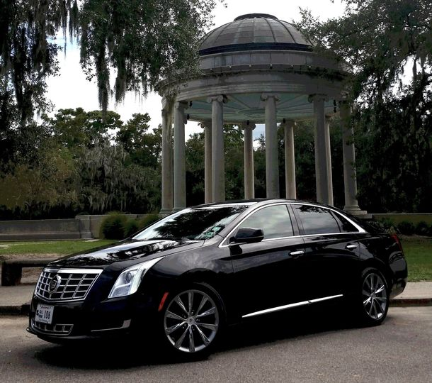 The Cadillac XTS is a sleek option for up to 3 passengers.