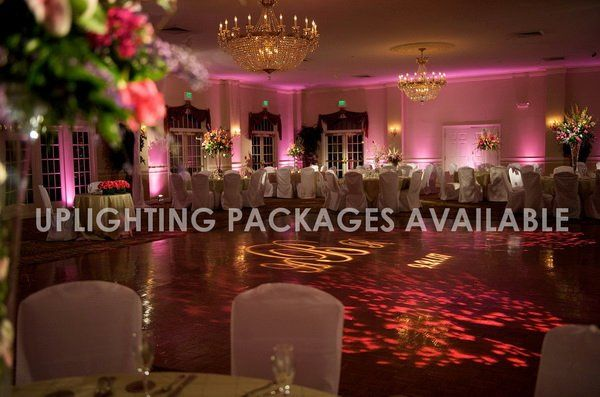 Reception and uplighting set-up