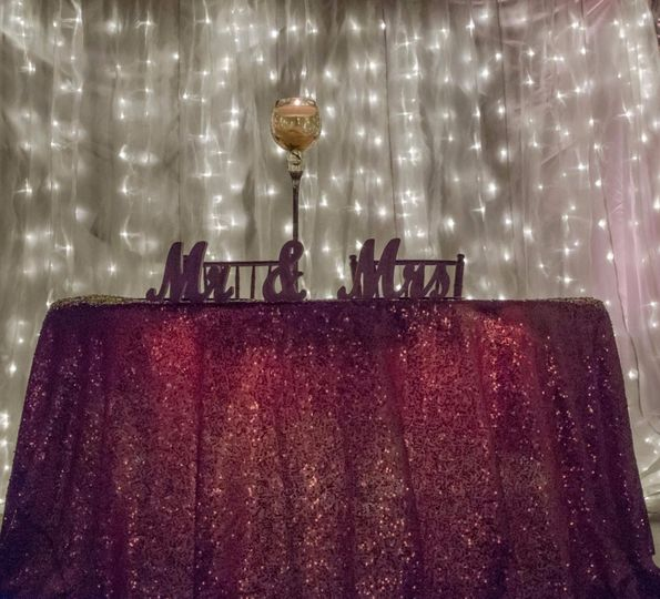 Lights and table