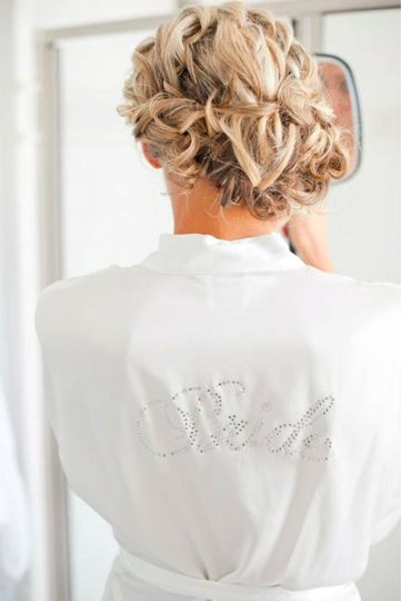 Back view of wedding updo - Wise Artistry
