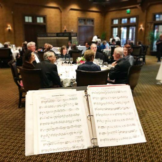 Playing at a banquet