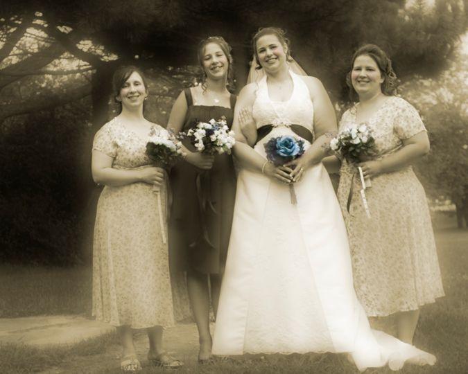 Mandi and her Bridesmaids