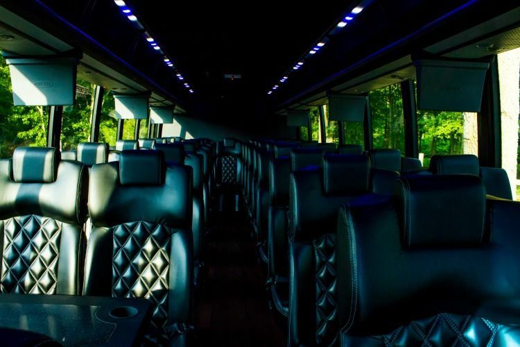 49 Passenger Executive Shuttle Interior. High quality finishes for a luxurious ride.