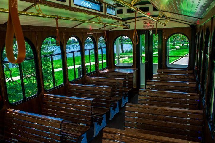 28 Passenger Trolley Interior