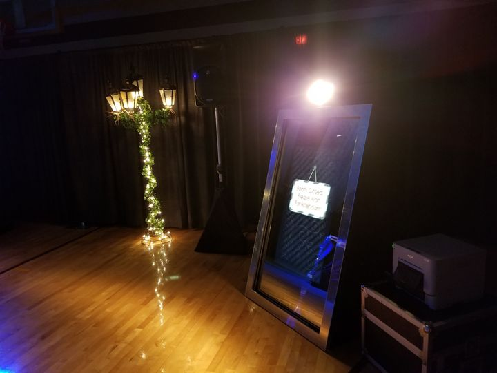 Interactive Mirror Photo Booth ready to go for the Belle Plaine High School Prom.