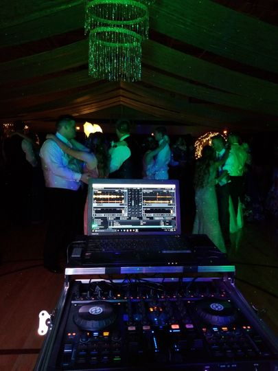 Slow dancing at the Belle Plaine HS Prom as I DJ.