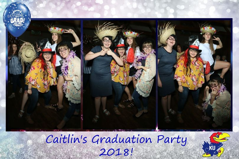 Fun with the Interactive Mirror Photo Booth at Caitlin's Grad Party!