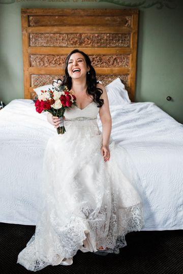 Giggly bride