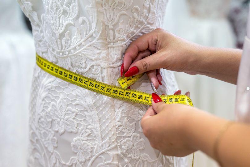 Wedding gown adjustments