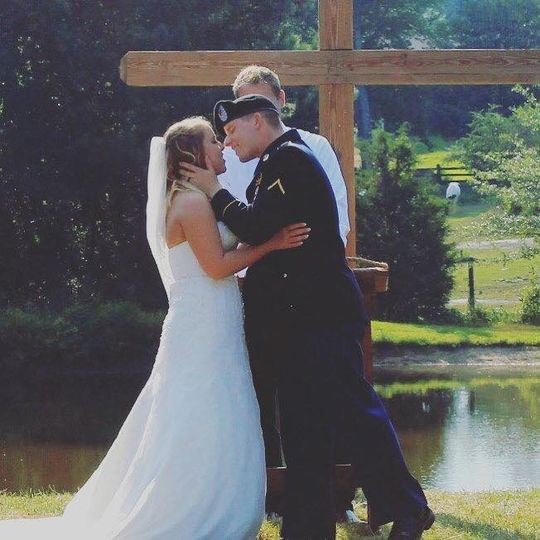 "Say ""i do"" out by the pond"