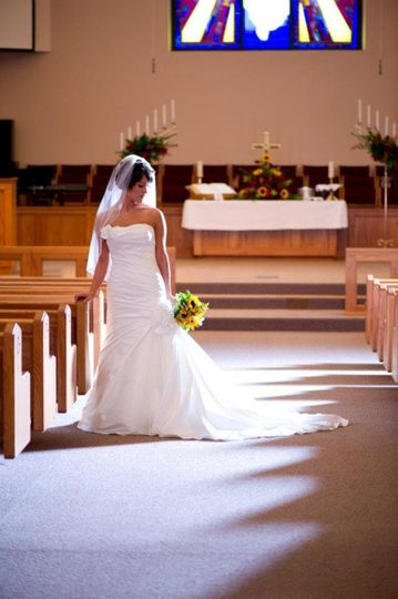 Bride on the aisle