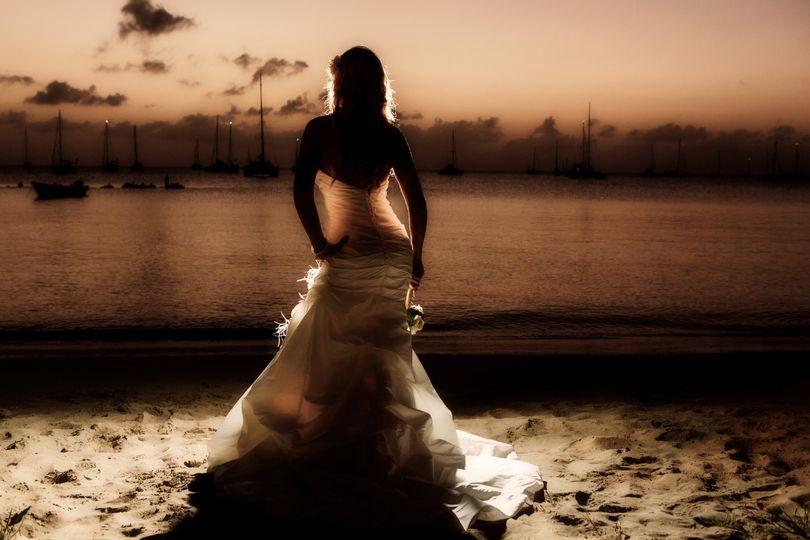 St Lucia sunset wedding