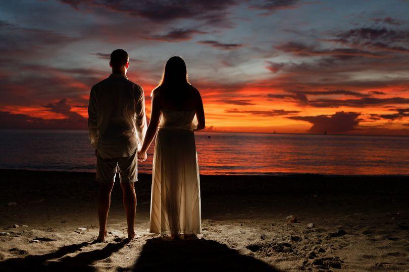 Sunset Wedding Caribbean