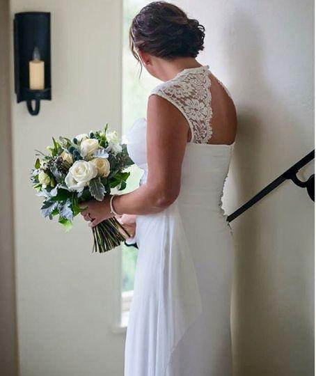 Updo bridal look