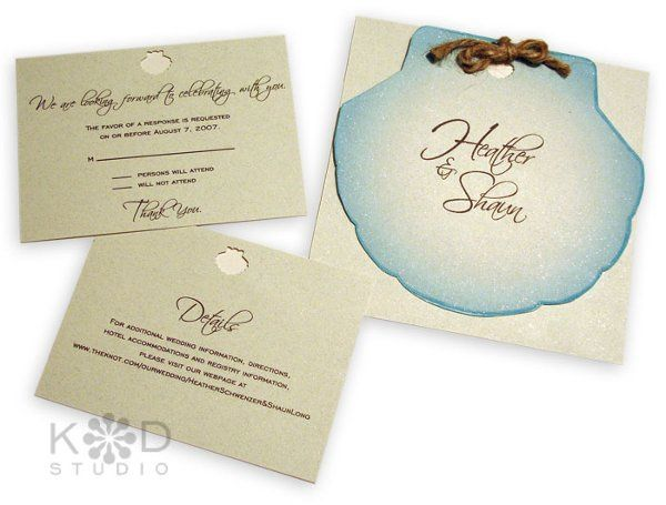Tmx 1302193371067 ShellInvitationC Collegeville wedding invitation